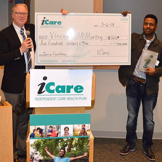 iCare Provider Awards Program means recognition, an award and a cash prize