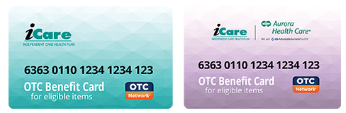 iCare's OTC Benefits Card is a prepaid OTC Debit Card. Use in-store or order via catalog.