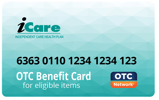 iCare Over The Counter OTC Card