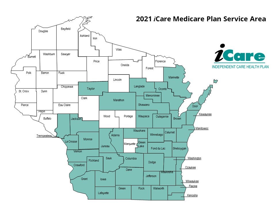 iCare Medicaid Plan Service Area Map